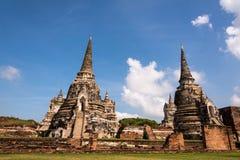 Ayutthaya Tailândia - cidade antiga e lugar histórico Wat Phra Fotos de Stock