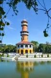 AYUTTHAYA, TAILÂNDIA 28 de dezembro: Ho Withun Thasana antigo onde Fotos de Stock Royalty Free