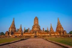 Templo de Chaiwattanaram Imagens de Stock Royalty Free