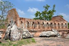 Ayutthaya, Tailândia: Ruínas de Wat Gudidao Foto de Stock Royalty Free