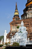 Ayutthaya, Tailândia: Ruínas de Wat Yai Chai Mongkhon foto de stock royalty free
