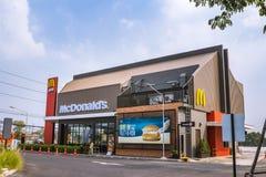 Ayutthaya - Tailandia, el 11 de febrero de 2018: Restaurante del ` s de McDonald el 11 de febrero de 2018 en Ayutthaya, Tailandia Fotografía de archivo