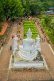 AYUTTHAYA, TAJLANDIA, LUTY, 08, 2018: Nad widok Sukhothai dziejowy park stary miasteczko Tajlandia Antyczny Buddha Fotografia Royalty Free