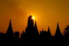 Antyczna pagody grupa nad 500 rok Obrazy Royalty Free