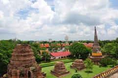 Ayutthaya Tempel Stockfotos