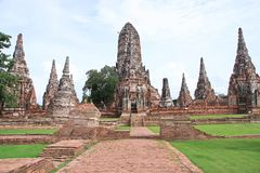 Ayutthaya-Tempel Lizenzfreie Stockfotografie