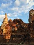 Ayutthaya tempel Royaltyfri Bild