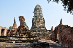 Ayutthaya-Tempel Stockfoto