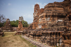 Ayutthaya temple ruins, Wat Maha That Ayutthaya as a world heritage site, Thailand. Stock Image