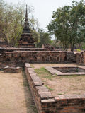 Ayutthaya temple ruins, Wat Maha That Ayutthaya as a world heritage site, Thailand. Royalty Free Stock Photography