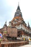 AYUTTHAYA-THAILAND-: Руины монастыря, руины старого p Стоковые Фотографии RF
