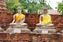 AYUTTHAYA-THAILAND-: Руины монастыря, руины старого p Стоковое Фото