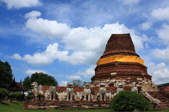 Ayutthaya Thailand 003. Ayutthaya Province , Beautiful Ancient City in Thailand , Historic Building Royalty Free Stock Images