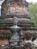 AYUTTHAYA, THAILAND APRIL 14 : Buddha at Wat Chai Watthnaram on april 14 2012 in Ayutthaya ,Thailand.Wat Chai Watthnaram the histo Royalty Free Stock Photo