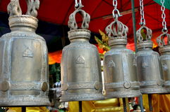 Ayutthaya, Thailand: Bells at Wat Phanon Choeng Stock Photos