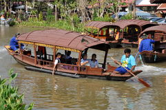 Ayutthaya, Thailand: Boats at Floating Market Stock Photos