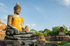 Ayutthaya (Thailand), Buddha statues in an old temple Royalty Free Stock Photos