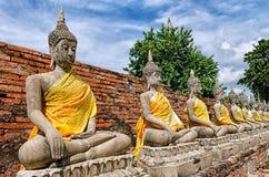 Ayutthaya (Thailand), Buddha statues Royalty Free Stock Image