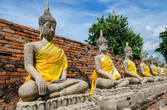Ayutthaya Thailand, Buddha statues in an old temple Royalty Free Stock Photography
