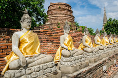 Ayutthaya Thailand, Buddha statues Royalty Free Stock Photo