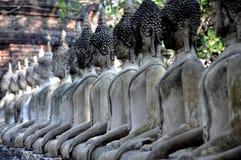 Ayutthaya, Thailand:  Buddhas at Wat Chai Mongkhon Stock Photography