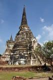 Ayutthaya, Thailand: Chedi at Wat Phra Si Sanphet Stock Image