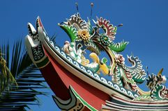 Ayutthaya, Thailand: Chinese Roof /Royal Palace Stock Photos