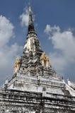 Ayutthaya, Thailand: De Leren riem van Phu Khao van Wat Royalty-vrije Stock Afbeeldingen