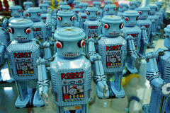 Ayutthaya Thailand: Den blåa roboten ståtar samlingen Arkivbilder