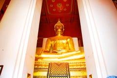 AYUTTHAYA-THAILAND-: Fördärvar av kloster, fördärvar av det gamla pet Fotografering för Bildbyråer