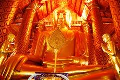 AYUTTHAYA-THAILAND-: Fördärvar av kloster, fördärvar av det gamla pet Royaltyfri Foto