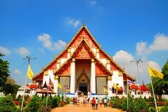 AYUTTHAYA-THAILAND-: Fördärvar av kloster, fördärvar av det gamla pet Arkivbilder