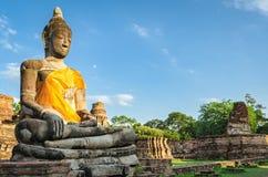 Ayutthaya Thailand, giant Buddha statue Stock Photography