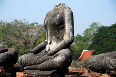 Ayutthaya, Thailand: Headless Buddha Statue Royalty Free Stock Photography