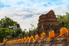 AYUTTHAYA,THAILAND-JUNE 27, 2013: Watyaichaimongkol Royalty Free Stock Photos