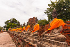 AYUTTHAYA,THAILAND-JUNE 27, 2013: Watyaichaimongkol Royalty Free Stock Photo