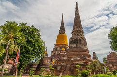 AYUTTHAYA,THAILAND-JUNE 27, 2013: Watyaichaimongkol Stock Photo