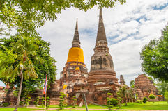 AYUTTHAYA,THAILAND-JUNE 27, 2013: Watyaichaimongkol Royalty Free Stock Photography