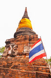 AYUTTHAYA,THAILAND-JUNE 27, 2013: Watyaichaimongkol Royalty Free Stock Image