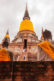 AYUTTHAYA,THAILAND-JUNE 27, 2013: Watyaichaimongkol Stock Photography