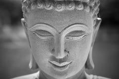 Ayutthaya, Thailand - März, 11, 2017: Schließen Sie herauf Gesicht von Buddha Stockfoto
