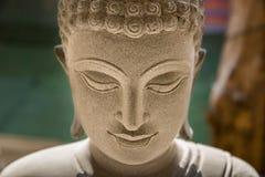 Ayutthaya, Thailand - March, 11, 2017 : Close up face of Buddha Stock Photos