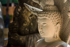 Ayutthaya, Thailand - March, 11, 2017 : Close up face of Buddha Royalty Free Stock Photos