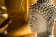 Ayutthaya, Thailand - March, 11, 2017 : Close up face of Buddha Royalty Free Stock Photography
