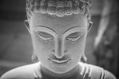 Ayutthaya, Thailand - March, 11, 2017 : Close up face of Buddha Royalty Free Stock Image