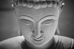 Ayutthaya, Thailand - March, 11, 2017 : Close up face of Buddha Stock Images