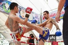 Thai boxing match Stock Photo