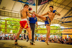Unidentified Muay Thai fighters competition Royalty Free Stock Photos