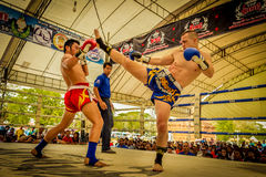 Unidentified Muay Thai fighters competition Royalty Free Stock Image