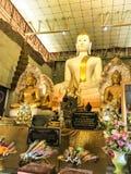 Ayutthaya, Thailand - Mei 3, 2019: De standbeelden van Boedha in de Oude Provincie van tempelayutthaya, Thailand Wat Thammikar stock foto